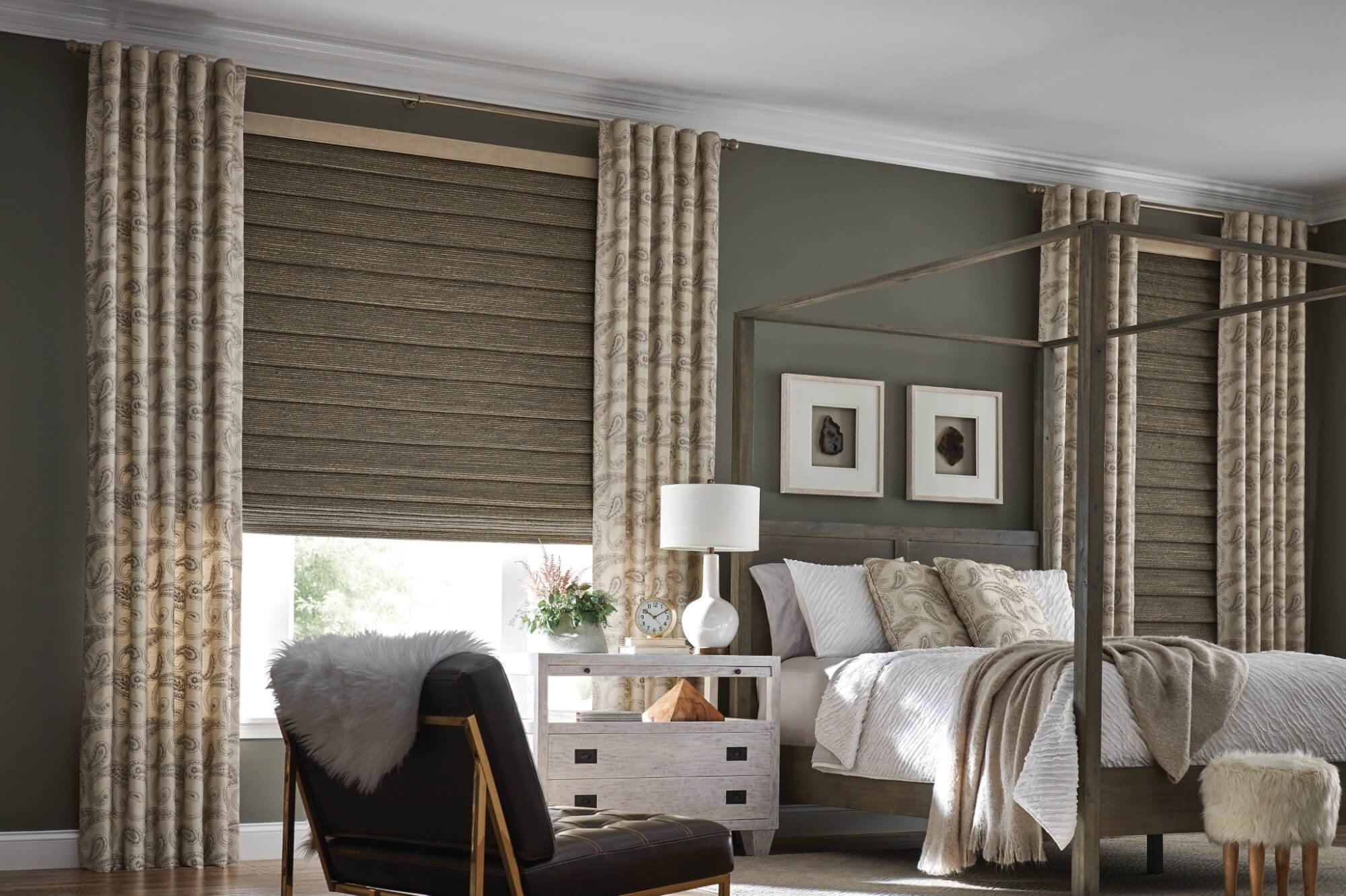 Draperies and curtains can be added on top of other window treatments adding another design element to the room as well another layer of insulation.