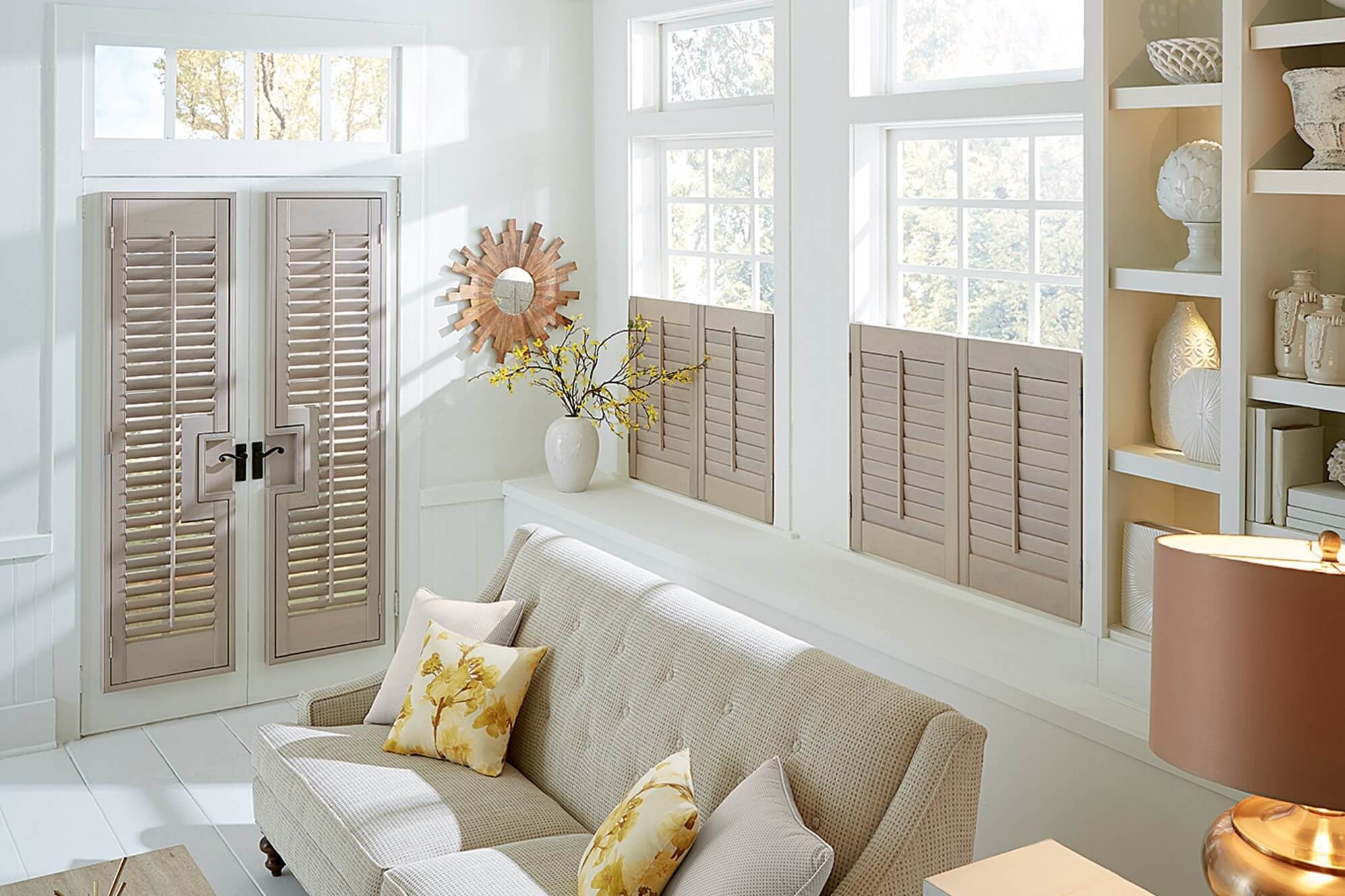 Shutters are energy efficient window treatments that also add value to your home.