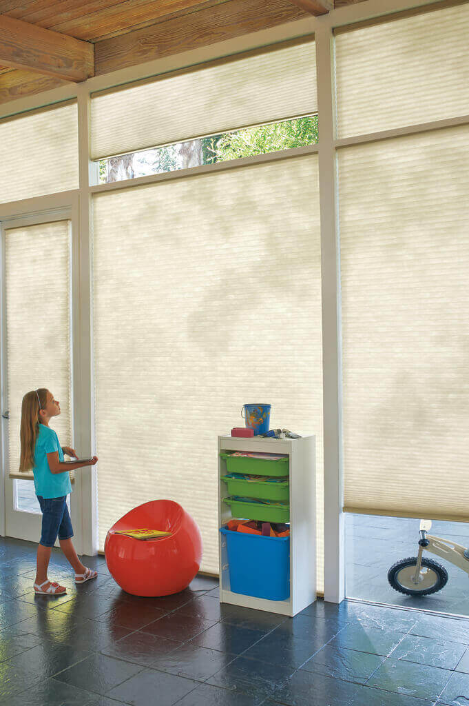 Motorized Window Treatments are cordless, making them a smart choice for households with children and pets.