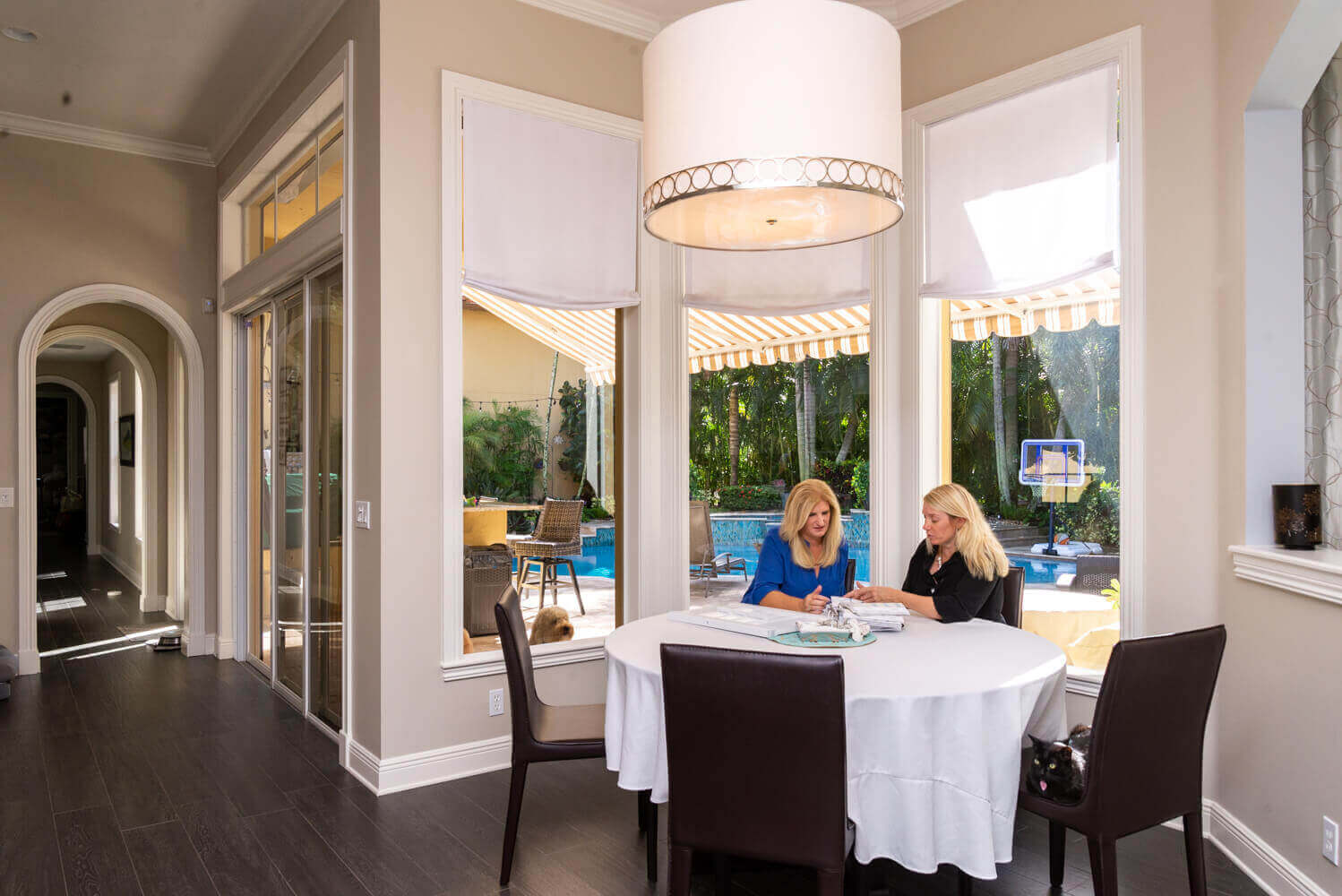 A Gotcha Covered design expert will meet with you to determine the best motorized window treatment options for your home.