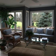Lake Forst Home, Sun Room (designed by Diana Hoffman, of Gotcha Covered of Northwest Chicago)