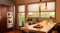 Motorized Shades in Kitchen