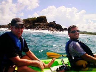 Eric and Nick kayaking