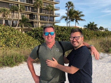 Eric and Nick on the beach
