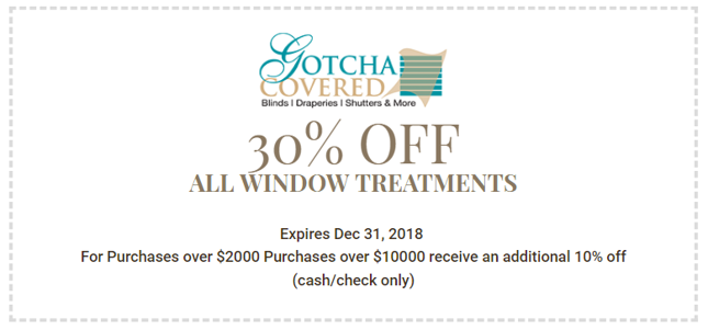 30% off all window treatments