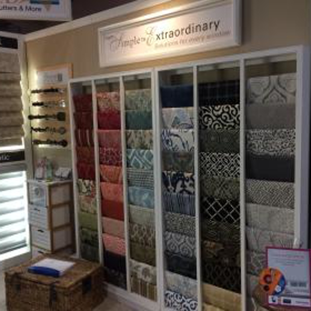The fabric wall from the Gotcha Covered Home Show booth