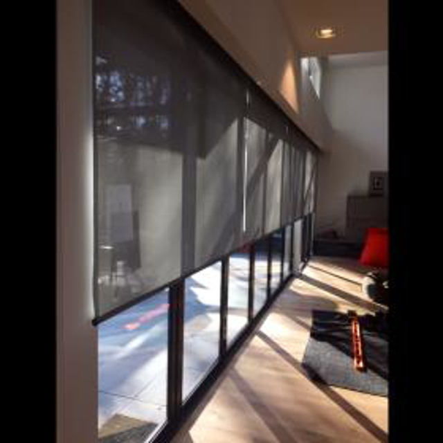 automated motorized PowerView shades from Hunter Douglas.