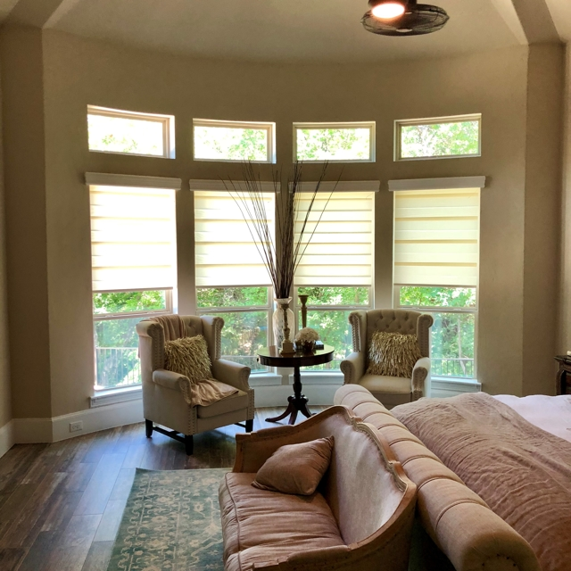 Gotcha Covered blinds in master bedroom
