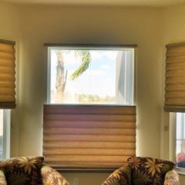 Brown roller shades