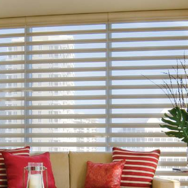 Blinds in reading nook