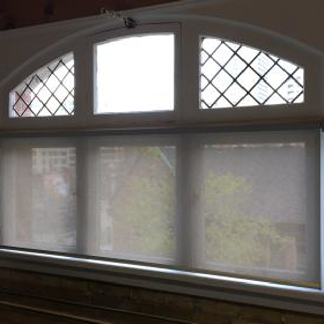 3% screen shade on this window has made a great difference in keeping the room cool and looks great!