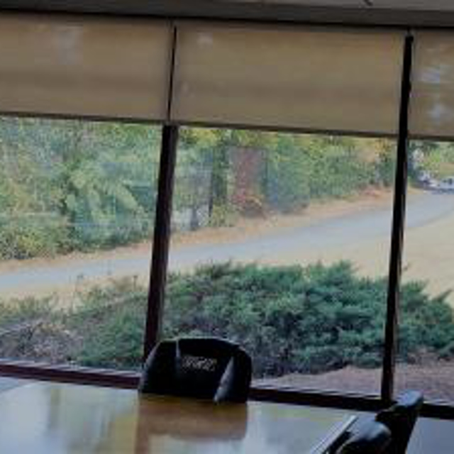 Solar shades are a great option for commercial offices to help with heat, light, and UV ray reduction. All can be motorized to lower during presentations.