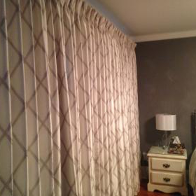 Printed drapery curtains