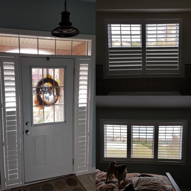 Blinds near entrance of home