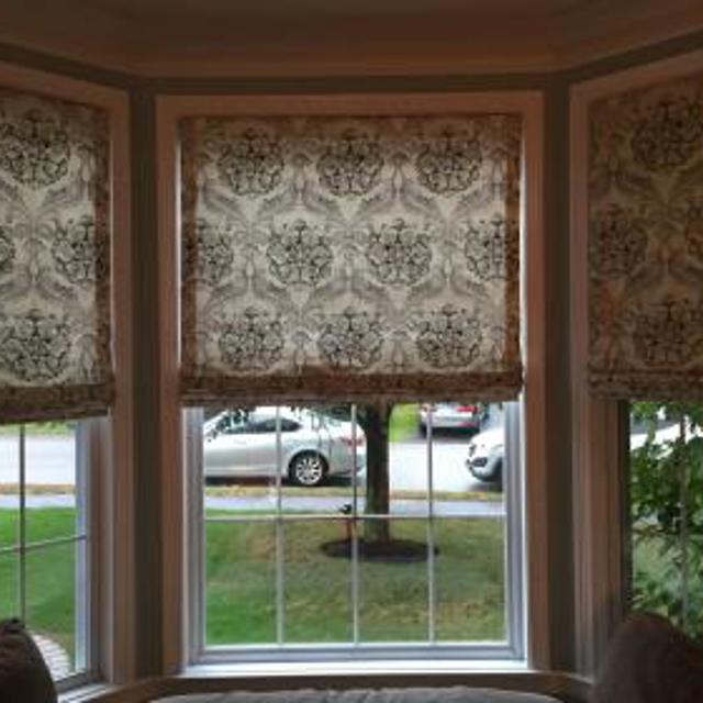 Beautiful cordless Roman Shades