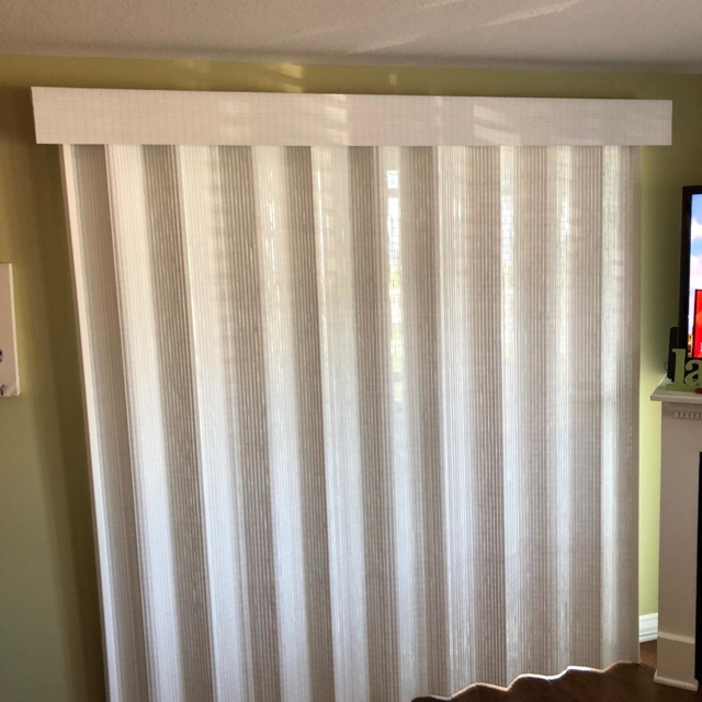 Curtains closed in living room
