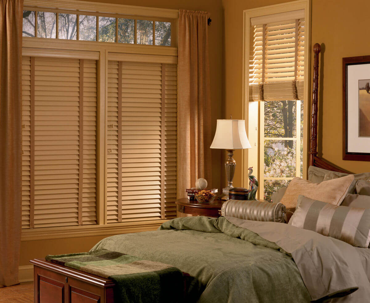 Craftsman style window treatments will emphasize organic, natural beauty with minimalistic wooden coverings.