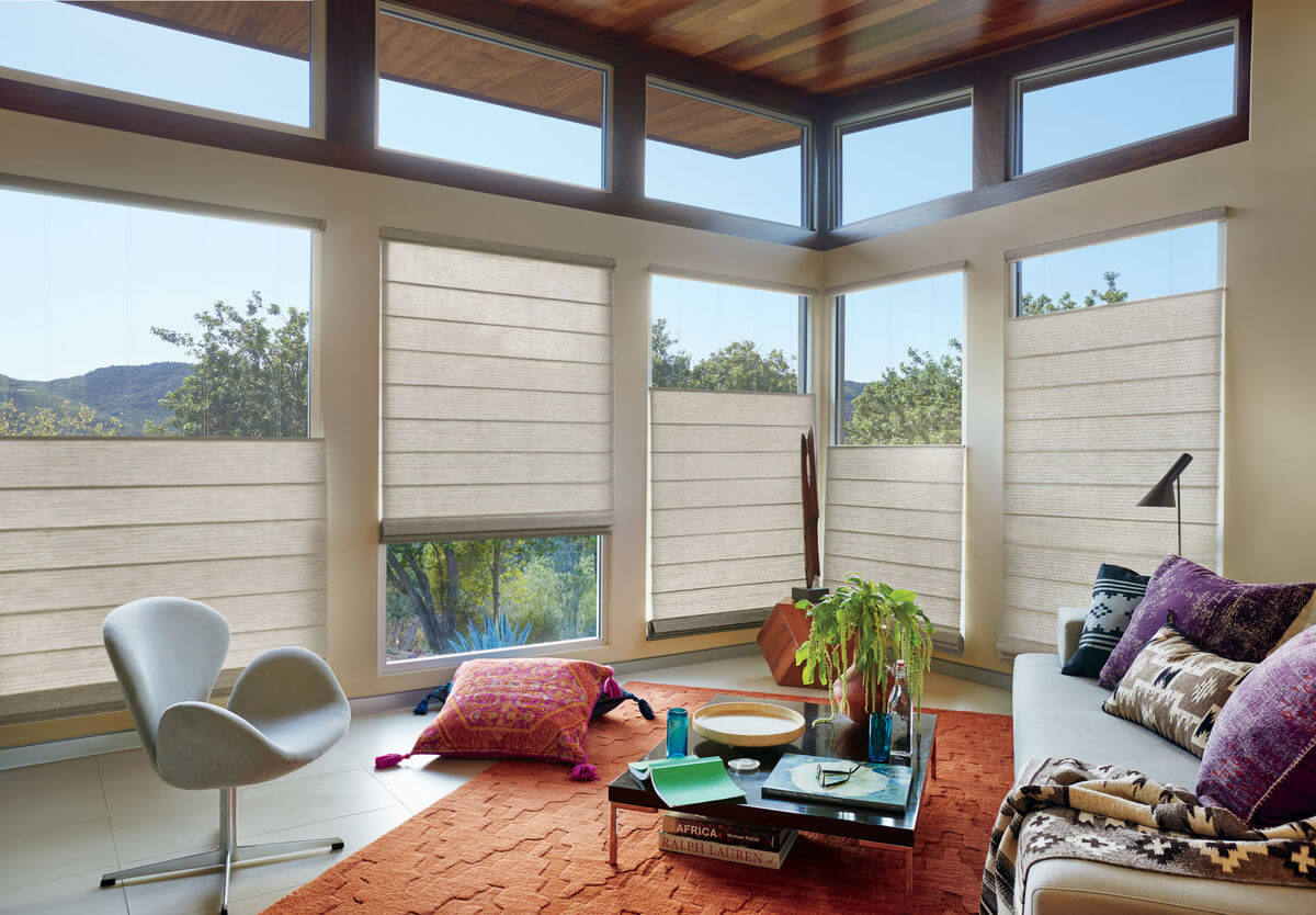 Top Down/Bottom Up window treatments are incredibly beneficial in terms of privacy since you have the option to close a portion of the window, while the other part can be left open.