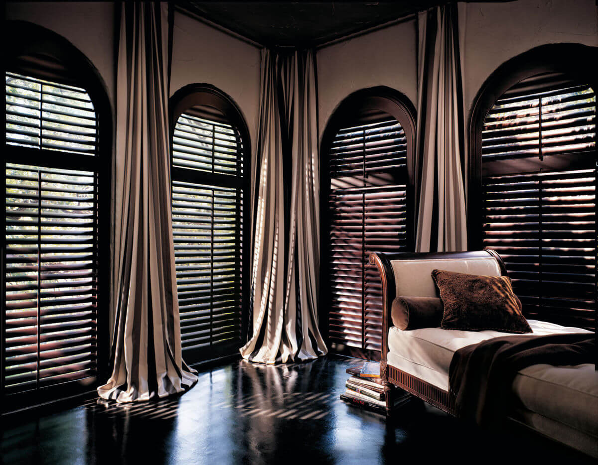 Window treatments for a glam design style should combine luscious materials with a little extra sparkle  and shine.