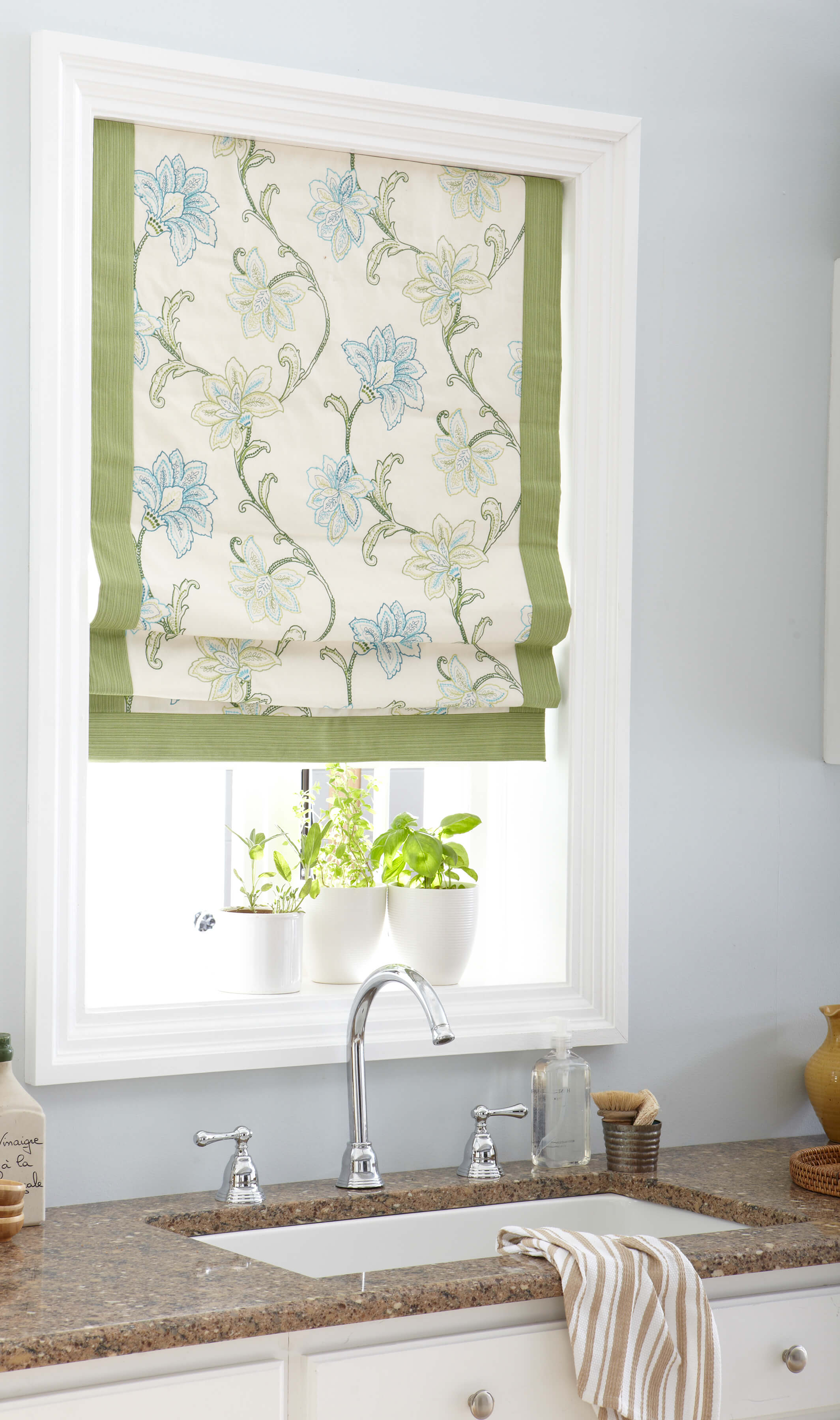 Roman shades are made from a variety of materials so it is important use cleaners that will not damage the treatment.