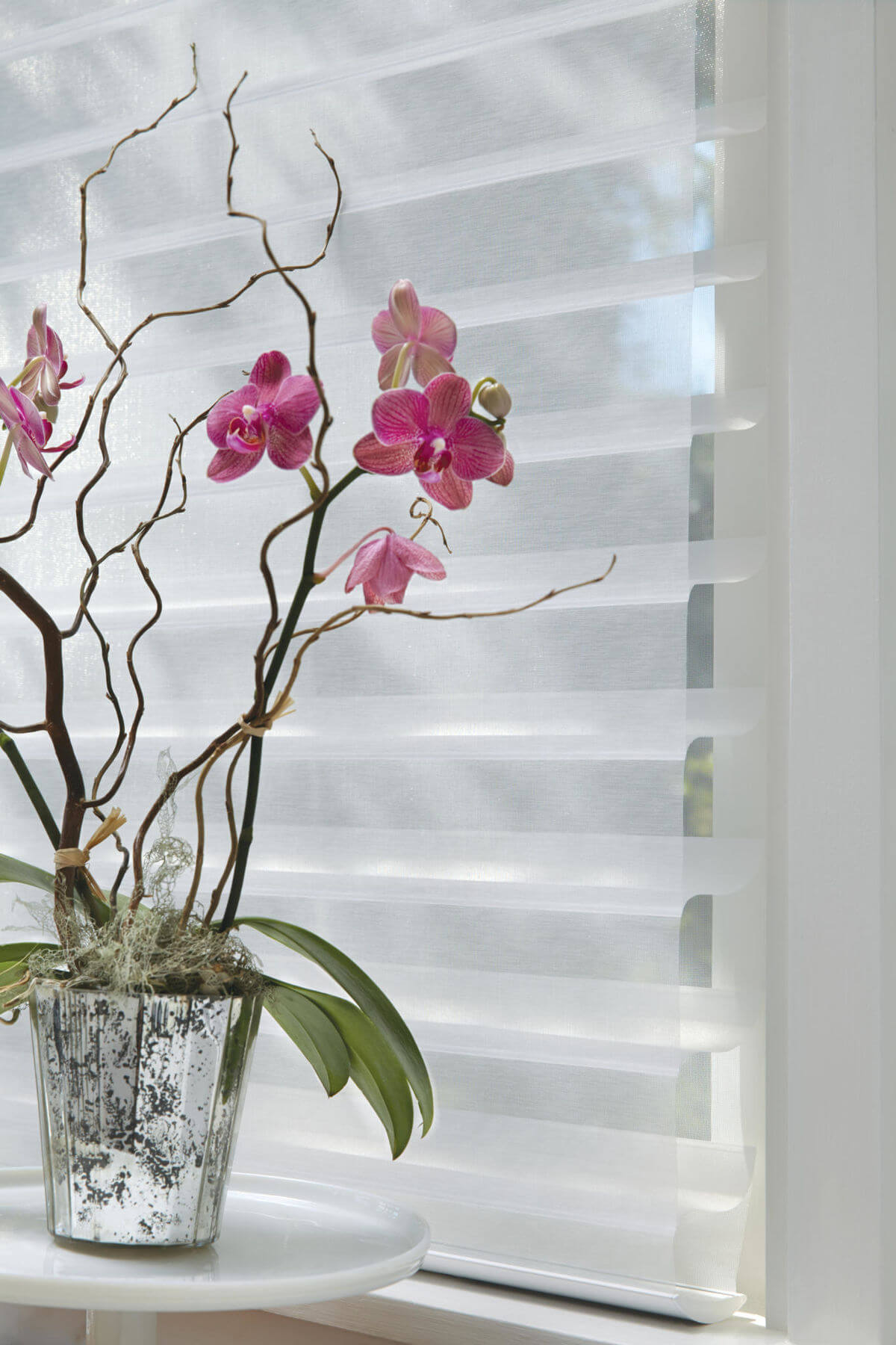 Sheer window treatments are made from a more delicate material and must be handled more carefully when cleaning.