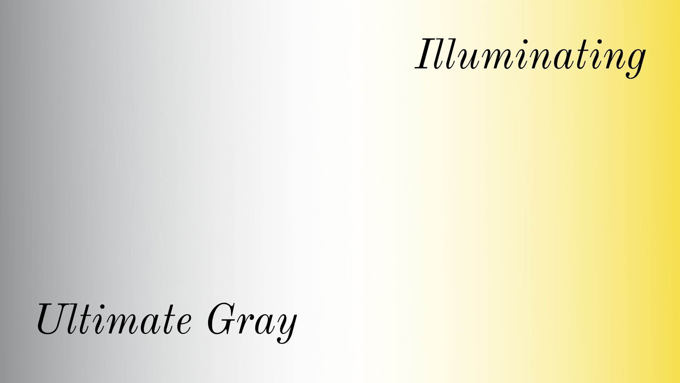 Pantone's color pairing for the year 2021 is Ultimate Gray and Illuminating which is anticipated to be a popular combination in window treatments and design.