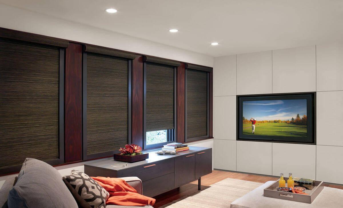 Blackout drapes are ideal for blocking out unwanted light and glare in TV and media rooms.