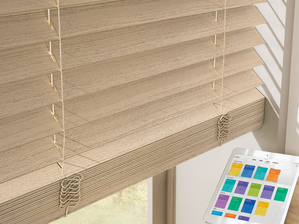 Different colored blinds