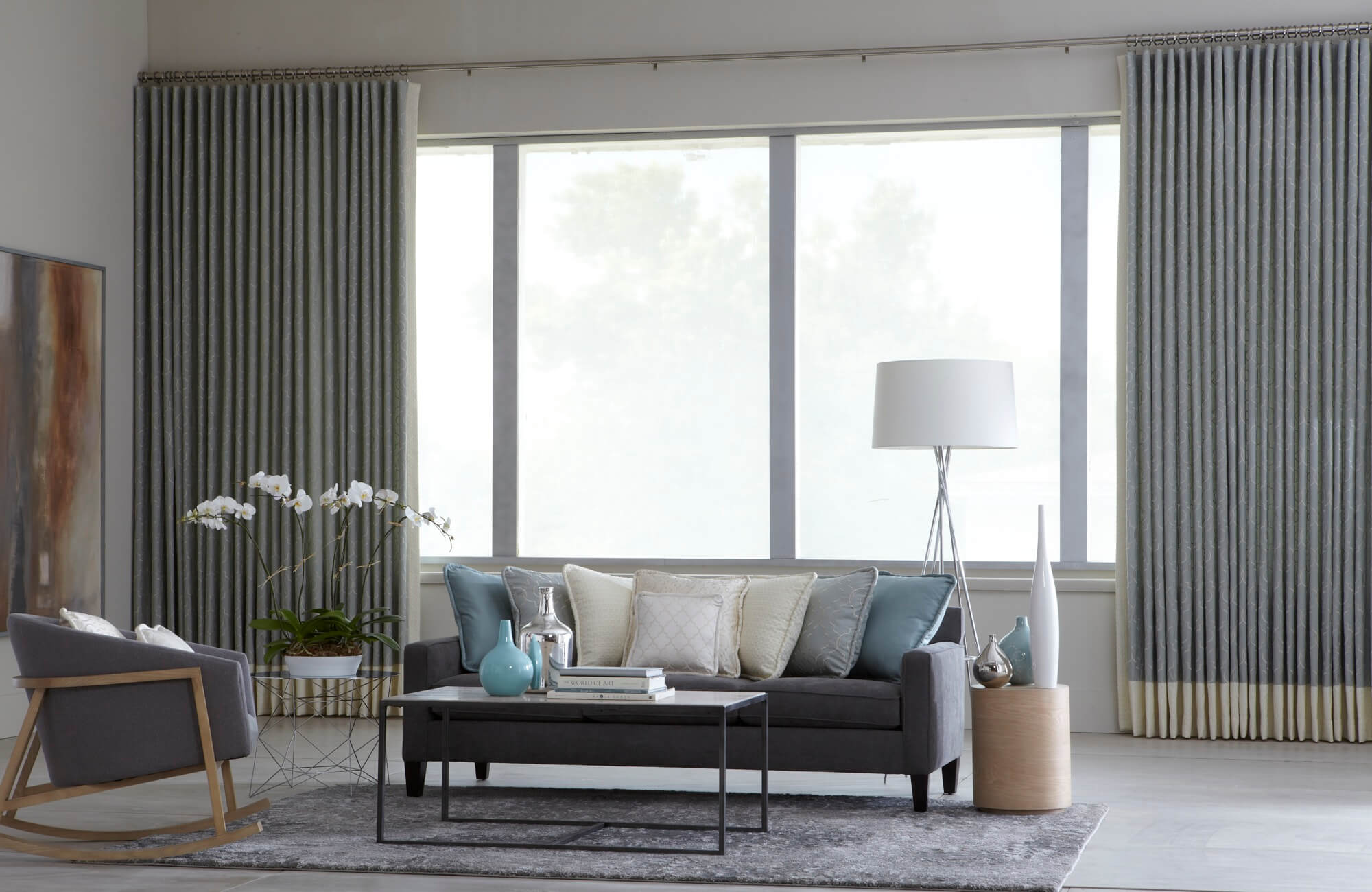 Using heavier and thicker materials for your window treatments can help raise the temperature of your room.