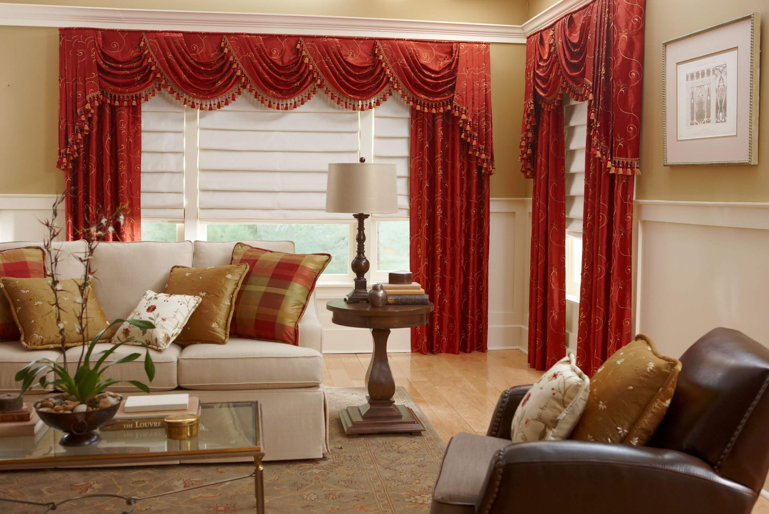 Layering window treatments is a great way to use more than one type of window covering to get multiple benefits.