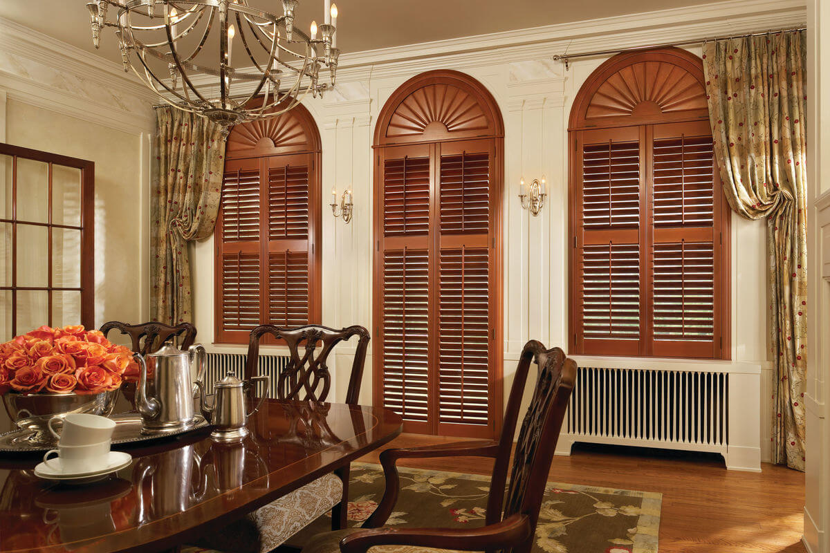 Traditional design style is timeless and classic. Traditional window treatments will add to the elegance of the room.