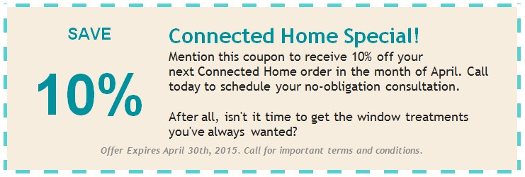 April 2015 Connected Home coupon