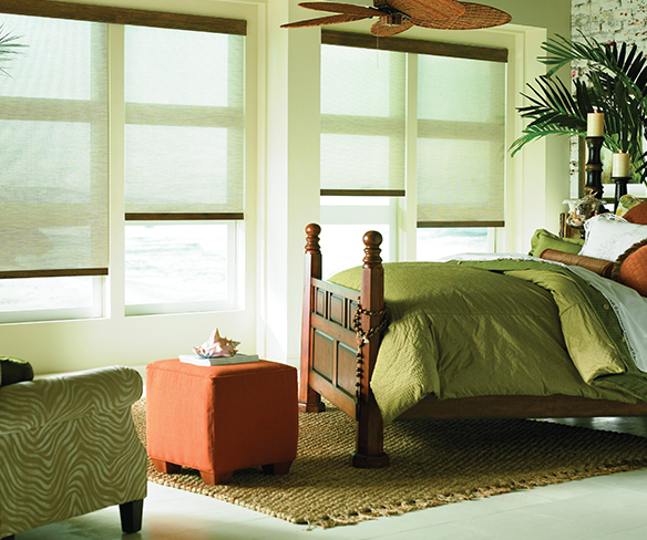 Bedroom roller shades