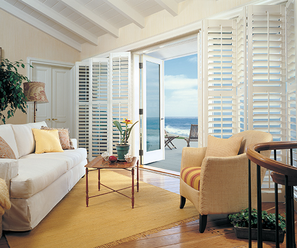 white shutters in a living room