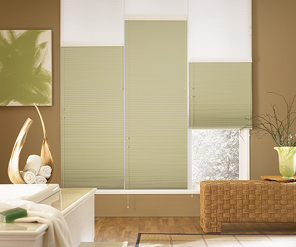 Bathroom cellular shades