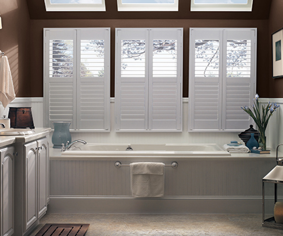 Bathroom composite shutters