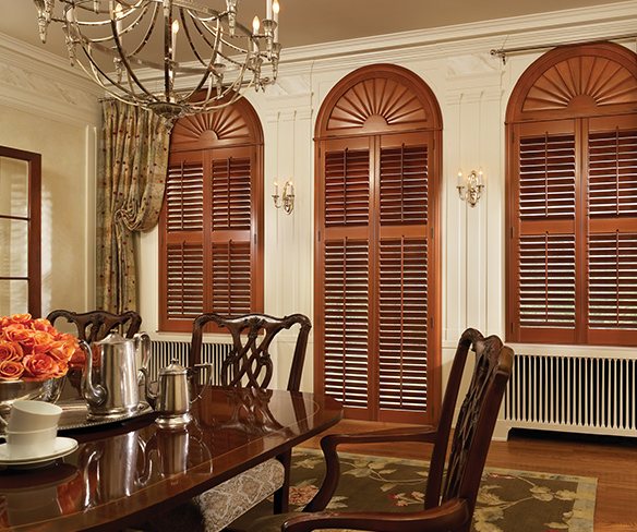 traditional wood shutters